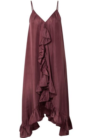 Mes Demoiselles Pamina Kleid aus Seiden-Voile mit Rüschen