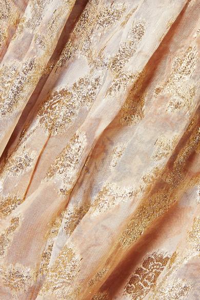 Mes Demoiselles Aspasie bedrucktes Maxikleid aus Fil Coupé mit Metallic-Finish