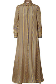 Mes Demoiselles Breedy's striped silk shirt dress