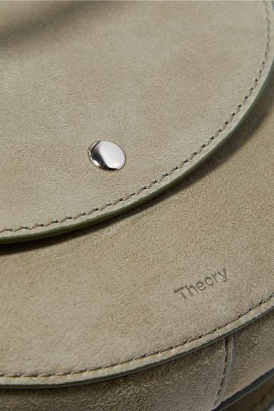 Spielraum Spielraum Original Theory Whitney kleine Schultertasche aus Veloursleder mit Detail aus geflochtenem Leder fq6Q89t2P8