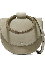 Whitney small braided leather and suede shoulder bag