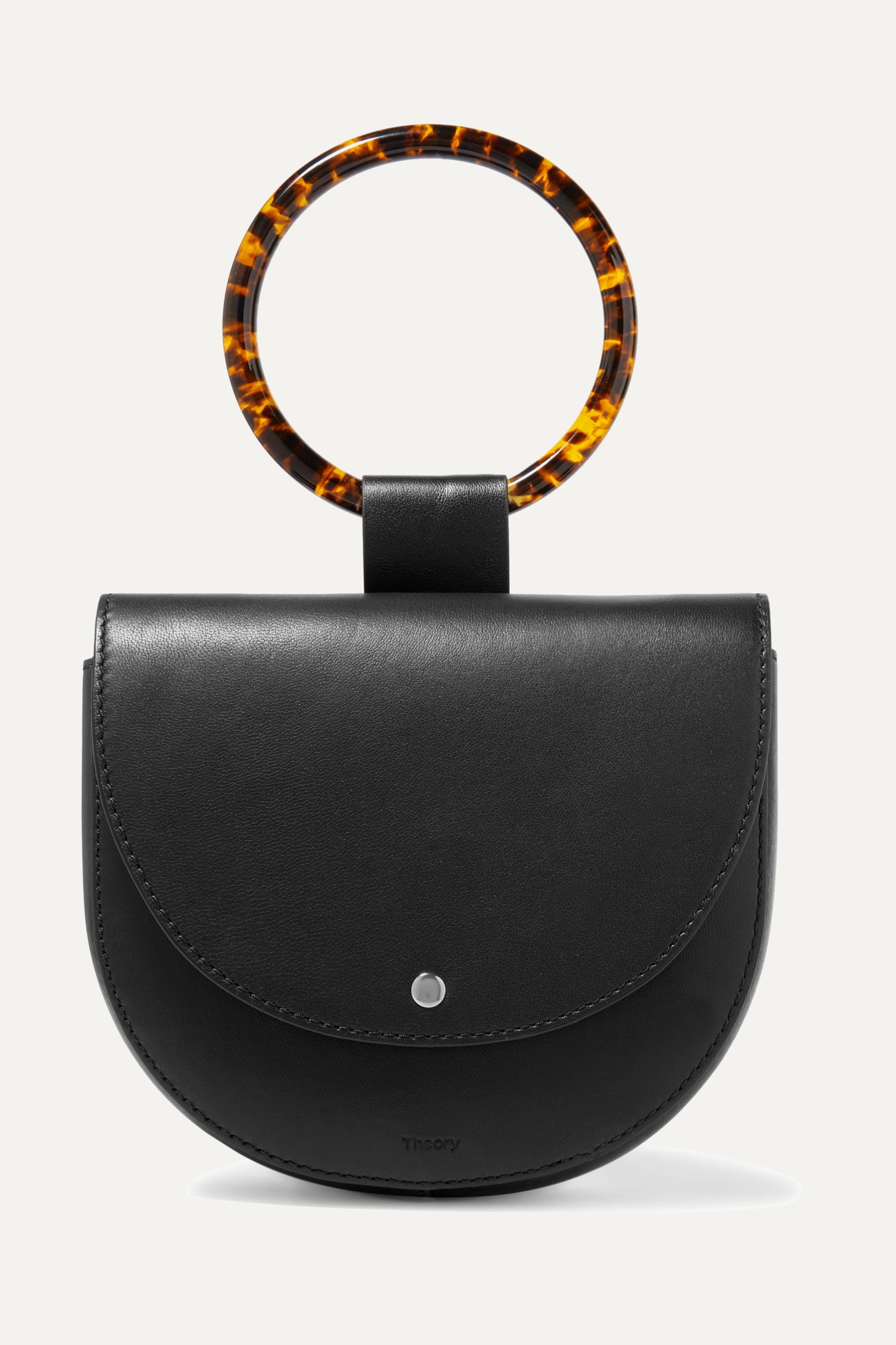 Theory Whitney small leather shoulder bag