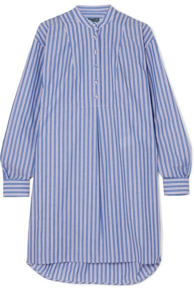 ALEXACHUNG Gestreiftes Hemdblusenkleid aus Baumwollpopeline