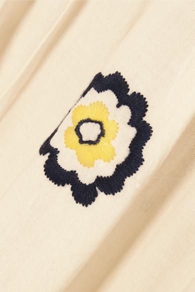 ALEXACHUNG Besticktes Maxikleid aus Baumwolle