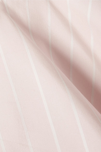 Jonathan Simkhai Kleid aus einer Baumwoll-Seidenmischung mit Lockstickereien und Streifen