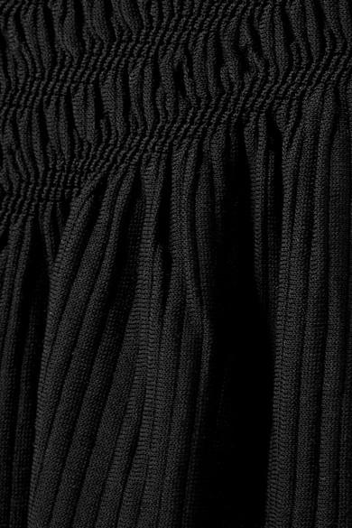 Jonathan Simkhai Midirock aus einer Stretch-Baumwollmischung mit Raffungen