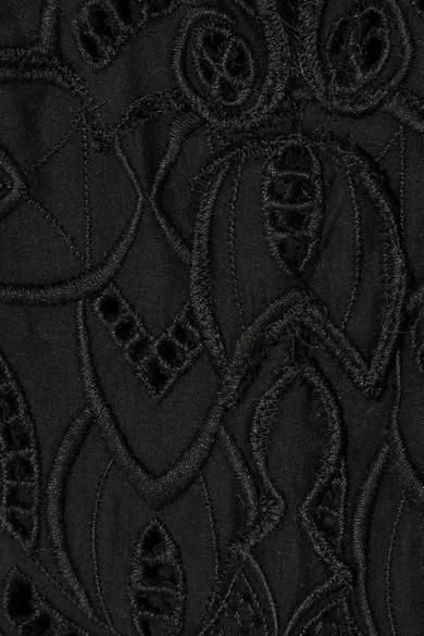 Jonathan Simkhai Jumpsuit aus Baumwolle mit Lochstickerei und Wellenkante