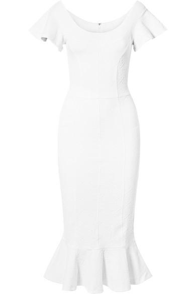 Lotus Jacquard Midi Dress - White Opening Ceremony qDHDSliHzL