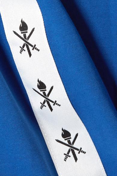Opening Ceremony Torch T-Shirt aus Baumwoll-Jersey mit Rippstrickbesätzen