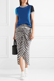 Torch ribbed knit-trimmed cotton-jersey T-shirt