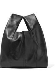Shopper mini leather tote