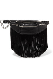 Attica fringed leather belt bag
