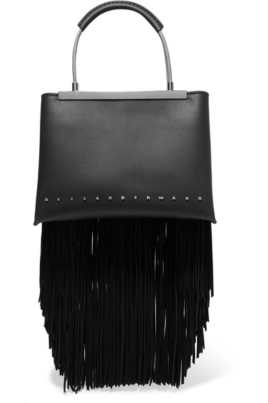 8f9030496 Alexander Wang | Dime small fringed leather tote | NET-A-PORTER.COM