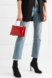 Alexander Wang Dime small patent textured-leather tote