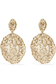 Dentelle gold-plated earrings
