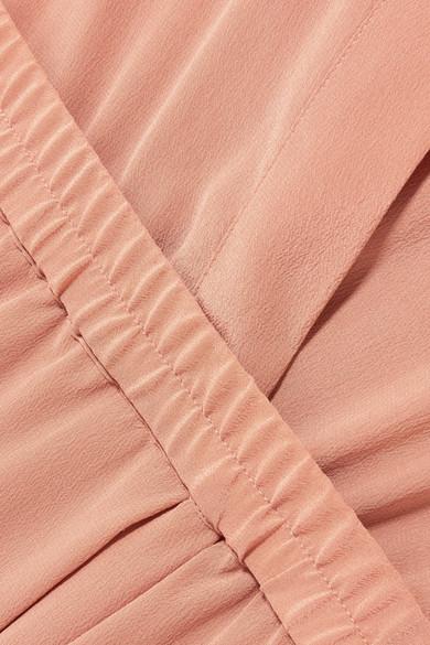 Vince Hemdblusenkleid aus vorgewaschener Seide