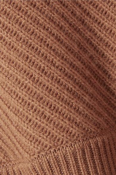 Vince Pullover aus einer gerippten Woll-Kaschmirmischung