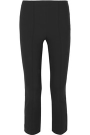 Vince Cropped stretch-knit flared leggings