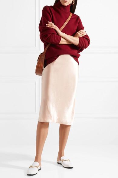 2643de107a Vince | Hammered-satin midi skirt | NET-A-PORTER.COM