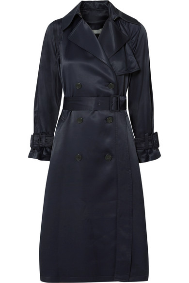 Vince Trenchcoat From Satin