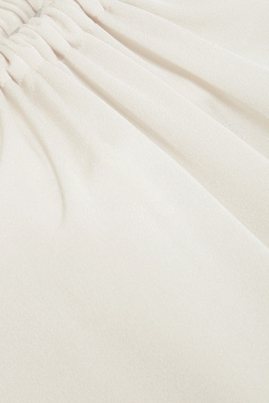 Vince Oberteil aus glänzendem Crêpe mit Raffung