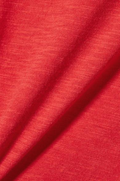 Vince T-Shirt aus Pima-Baumwoll-Jersey mit Flammgarneffekt