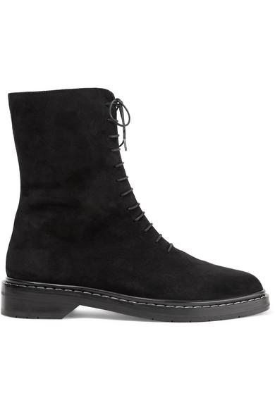 The Fara Row | Fara The Ankle Boots aus Veloursleder 28125f