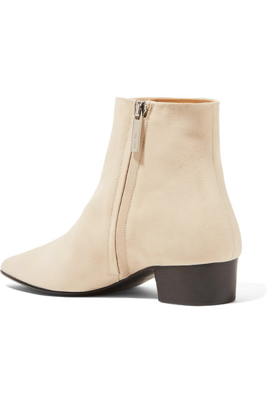 The Row Ambra Ankle Boots aus Veloursleder