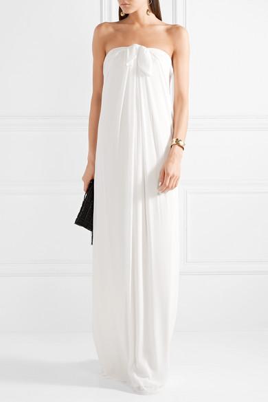 03c38b7109f3 Halston Heritage. Tie-front georgette maxi dress