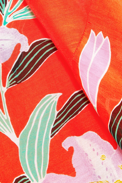 Diane von Furstenberg Bedruckter Maxirock aus Gaze aus einer Baumwoll-Seidenmischung mit Wickeleffekt