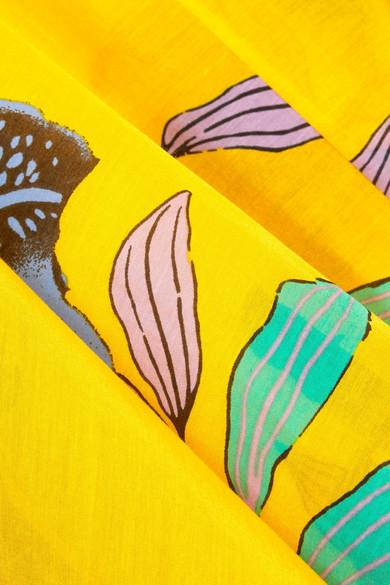 Diane von Furstenberg Floral bedrucktes Maxikleid aus einer Baumwoll-Seidenmischung
