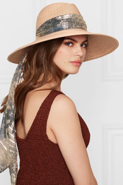 Eugenia Kim Cassidy jacquard-trimmed woven sunhat