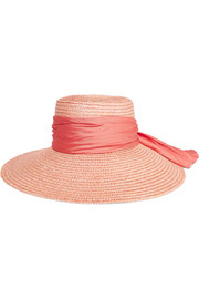 Annabelle faille-trimmed straw sunhat