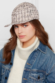 Darien metallic tweed baseball cap