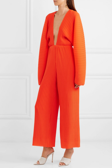 Solace London Livia Jumpsuit Pleated Chiffon