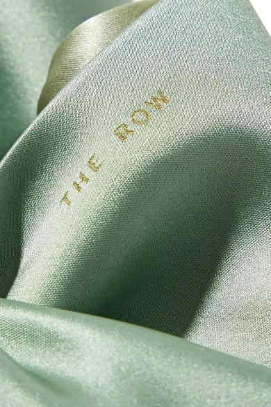 The Row Ascot kleine Tote aus Satin
