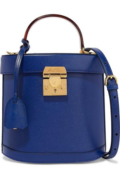 Benchley Textured-Leather Shoulder Bag, Blue