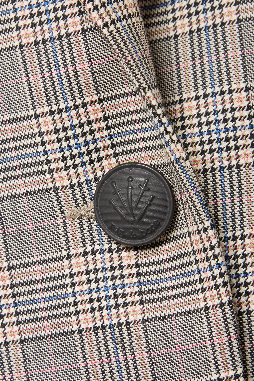 rag & bone Ridley velvet-trimmed checked wool and cotton-blend blazer