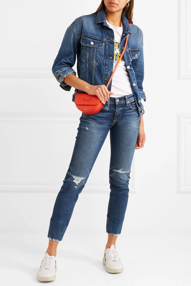rag & bone Dre halbhohe Jeans im Distressed-Look