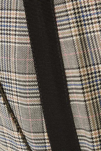 rag & bone Oman karierte Hose mit geradem Bein aus einer Woll-Baumwollmischung