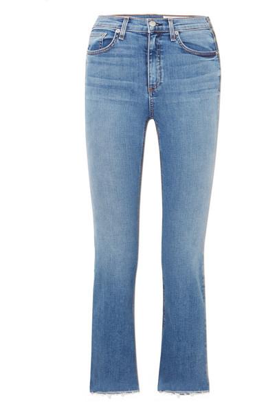 rag & bone Hana verkürzte, hoch sitzende Bootcut-Jeans