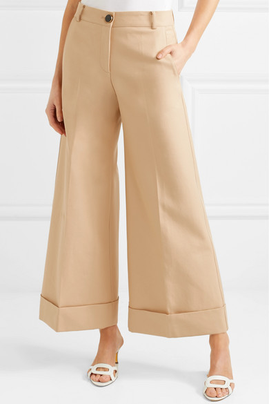 Khaite Carine Hose mit weitem Bein aus Baumwoll-Twill