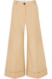 Carine cotton-twill wide-leg pants