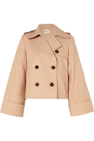 Khaite Bianca doppelreihige Jacke aus Baumwoll-Twill