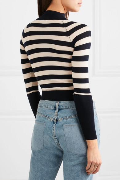 Khaite Ursula Striped Sweater From Stretch Merino Wool