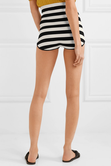 Khaite Brigette Shorts aus gestreiftem Stretch-Jersey