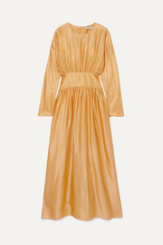 Deitas Hermine silk-satin midi dress