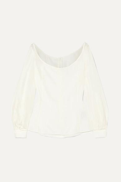DEITAS Abi Silk Blouse in White