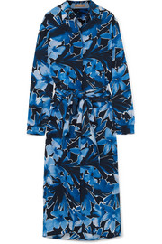 Michael Kors Collection Printed silk crepe de chine midi dress