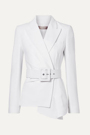 Michael Kors Collection Belted asymmetric crepe blazer